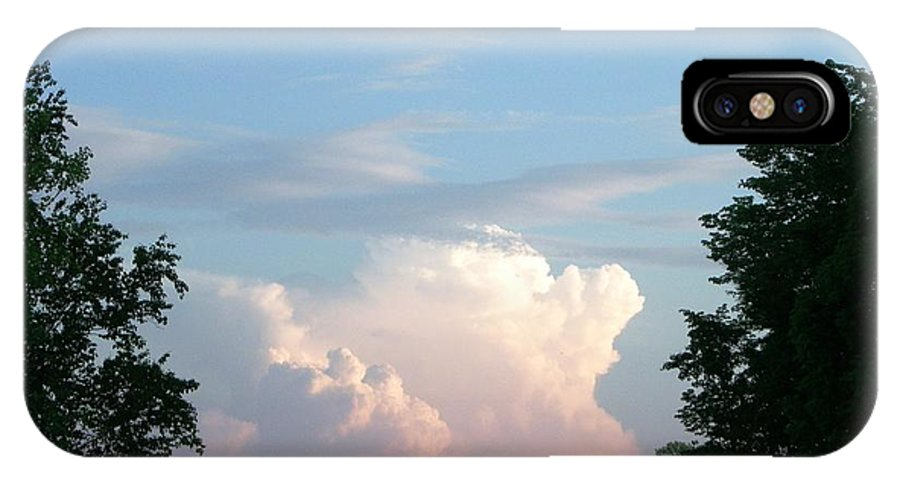 Sky IPhone X Case featuring the photograph Billows by Peggy King