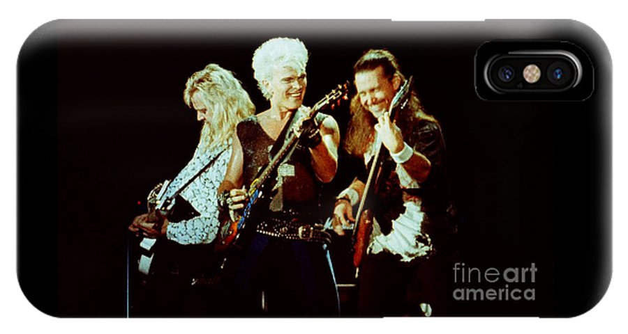 Billy Idol IPhone X Case featuring the photograph Billy Idol 90-2294 by Gary Gingrich Galleries