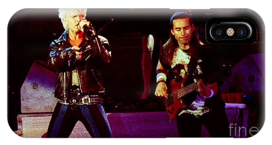 Billy Idol IPhone X Case featuring the photograph Billy Idol 90-2305 by Gary Gingrich Galleries
