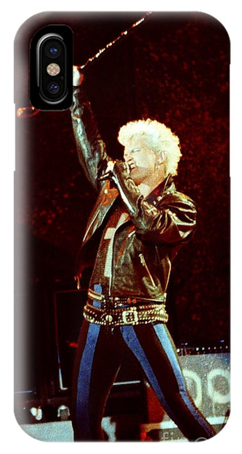 Billy Idol IPhone X Case featuring the photograph Billy Idol 90-2307 by Gary Gingrich Galleries