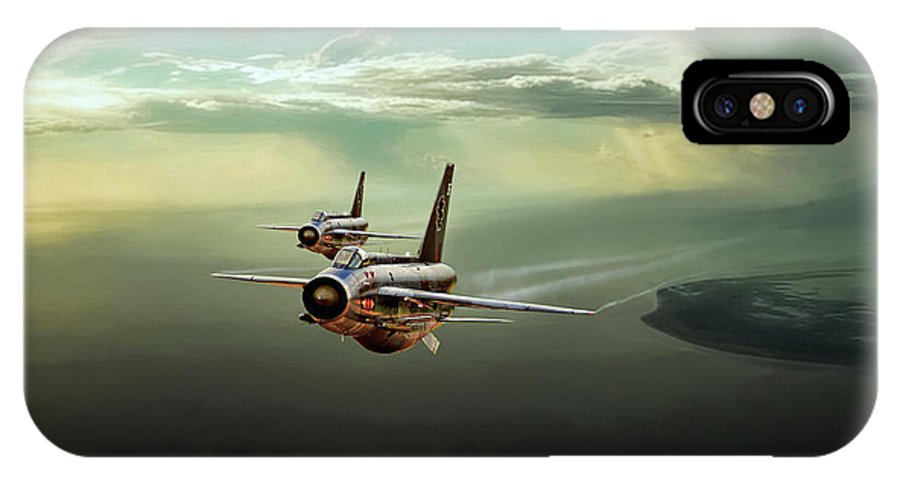 Aviation IPhone X Case featuring the digital art Binbrook Lightnings by Peter Chilelli