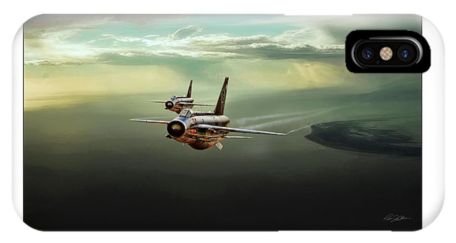 Aviation IPhone X Case featuring the digital art Binbrook Lightnings V2 by Peter Chilelli