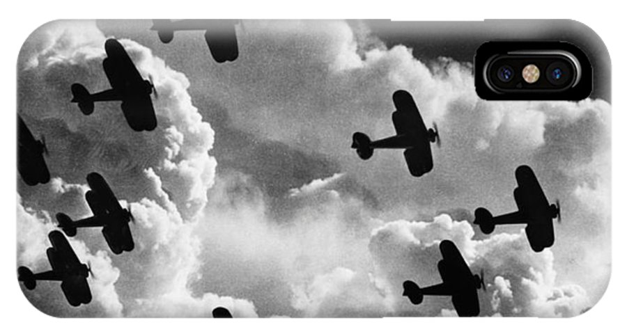 1917 IPhone X Case featuring the photograph Biplanes, C1917 by Granger