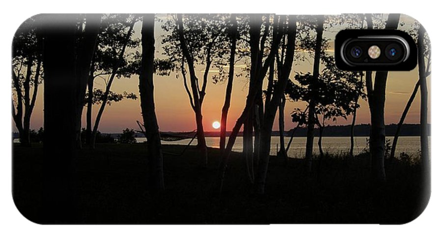 Birch IPhone X Case featuring the photograph Birches Watch The Sunset by Faith Harron Boudreau