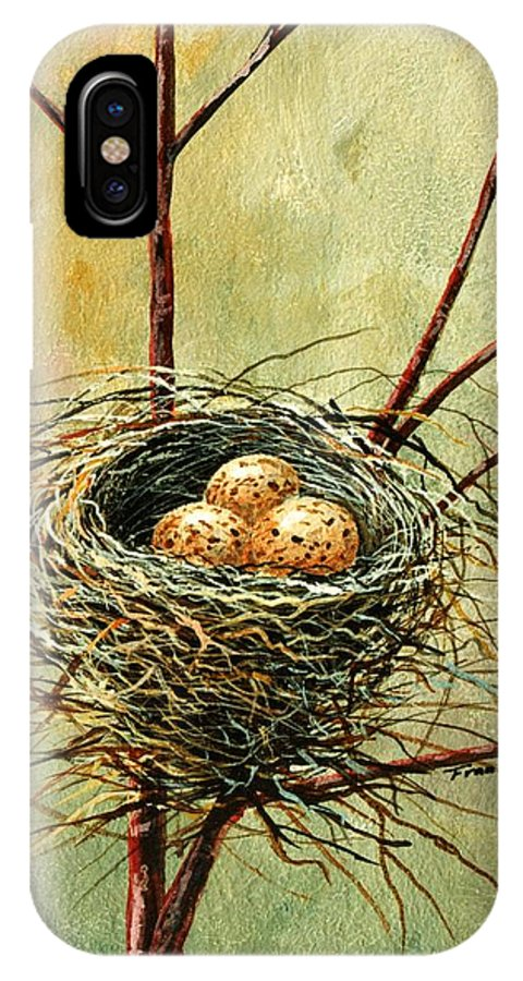 Still Life IPhone Case featuring the painting Bird Nest by Frank Wilson