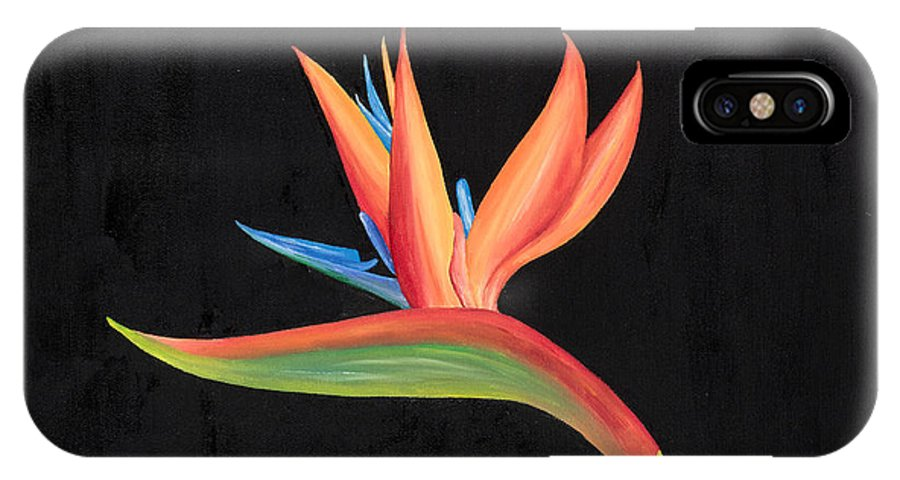 Bird Of Paradise IPhone X / XS Case featuring the painting Bird Of Paradise Collection by Sandra Lorant