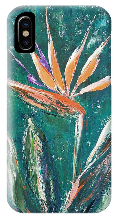 Bird Of Paradise IPhone Case featuring the painting Bird Of Paradise by Gina De Gorna