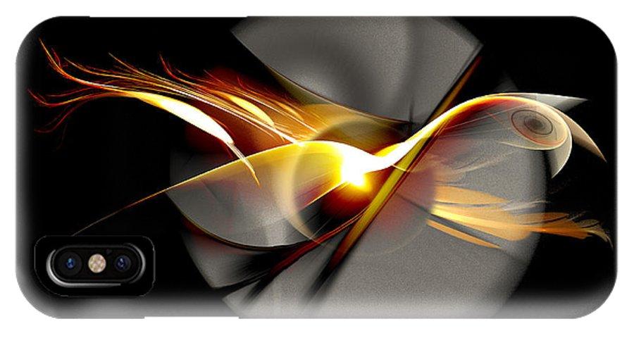 Bird IPhone X Case featuring the digital art Bird of Passage by Aniko Hencz