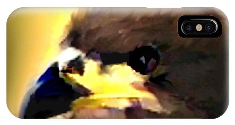 Digital IPhone X Case featuring the digital art Birds 2 by Crystal Webb