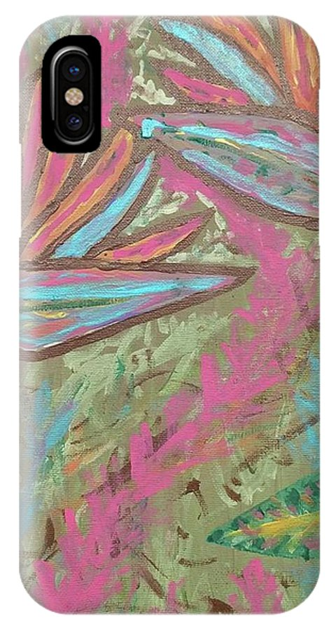 Flower IPhone X Case featuring the painting Birds Of Paradise by Jonathon Hansen