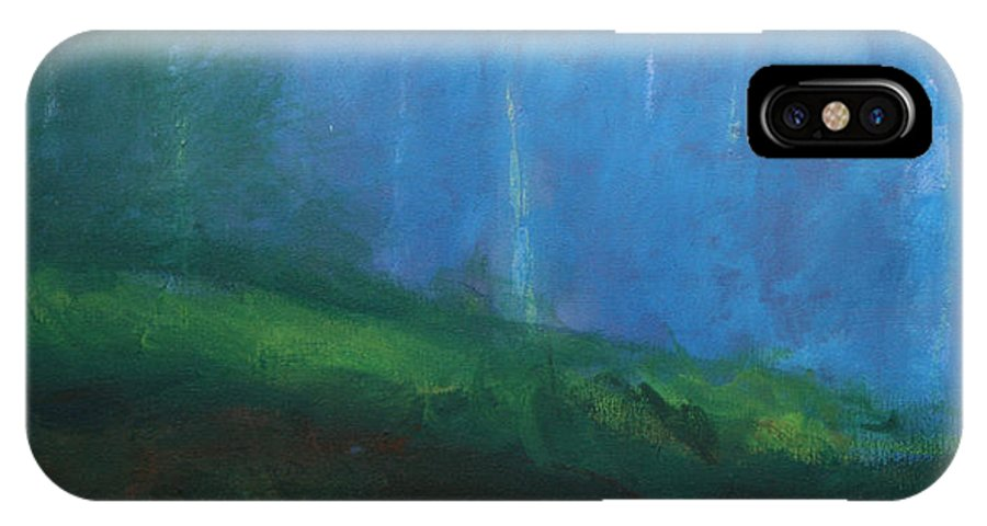 Abstract Painting IPhone X Case featuring the painting Birnam by CMDay
