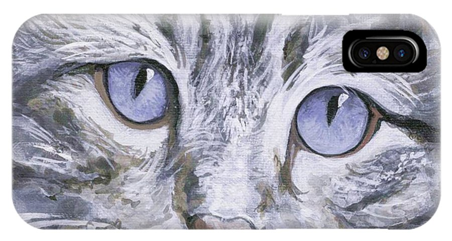 Charity IPhone Case featuring the painting Bisous by Mary-Lee Sanders