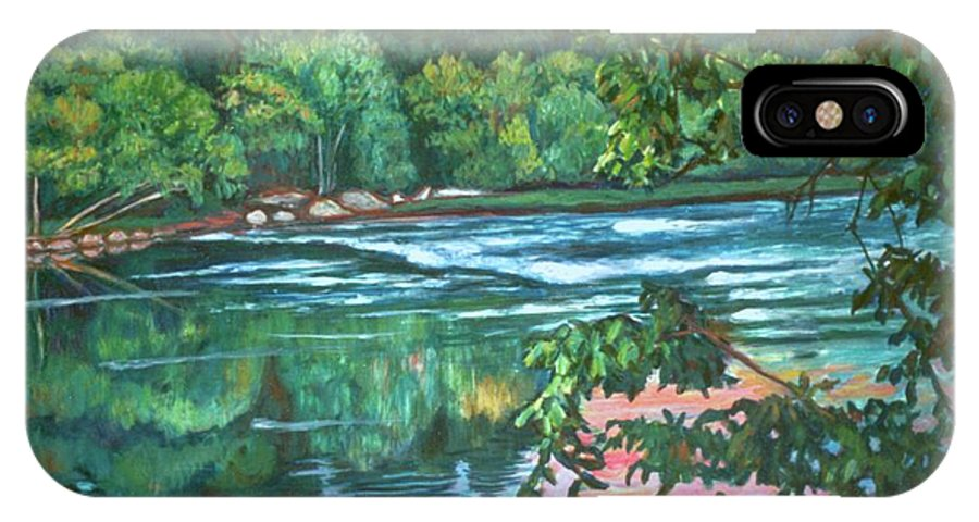 River IPhone Case featuring the painting Bisset Park Rapids by Kendall Kessler