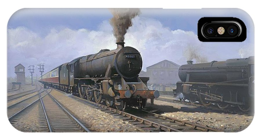 Railway IPhone Case featuring the painting Black 5's by Richard Picton