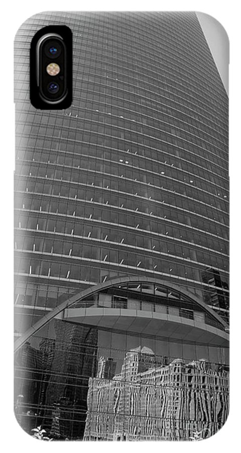 Black And White IPhone X Case featuring the photograph Black and White Reflections by David Bearden