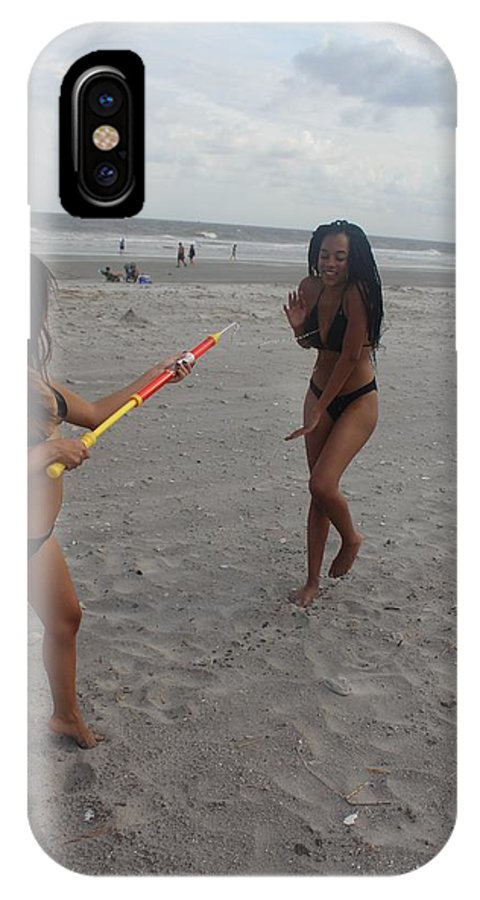 Squirt Gun IPhone X Case featuring the photograph Black Bikinis 32 by Christopher White