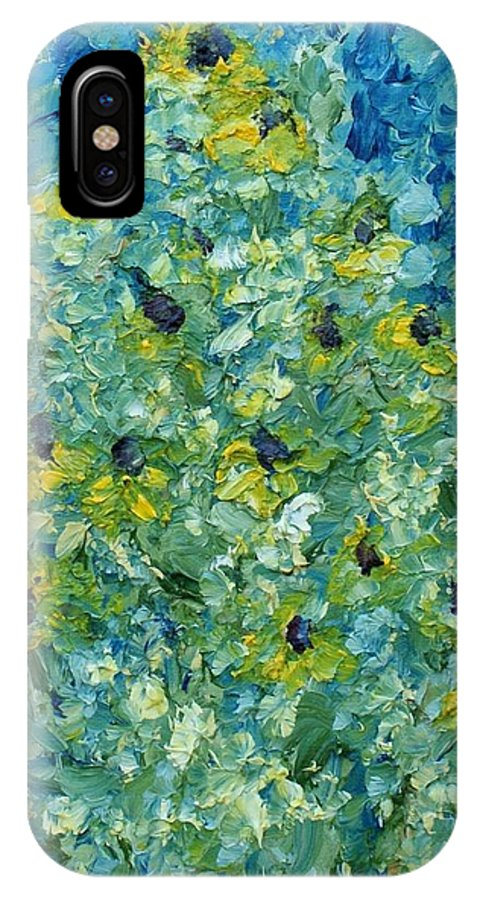 Flowers IPhone X Case featuring the painting Black-eyed Susans by Christopher O'Kelley