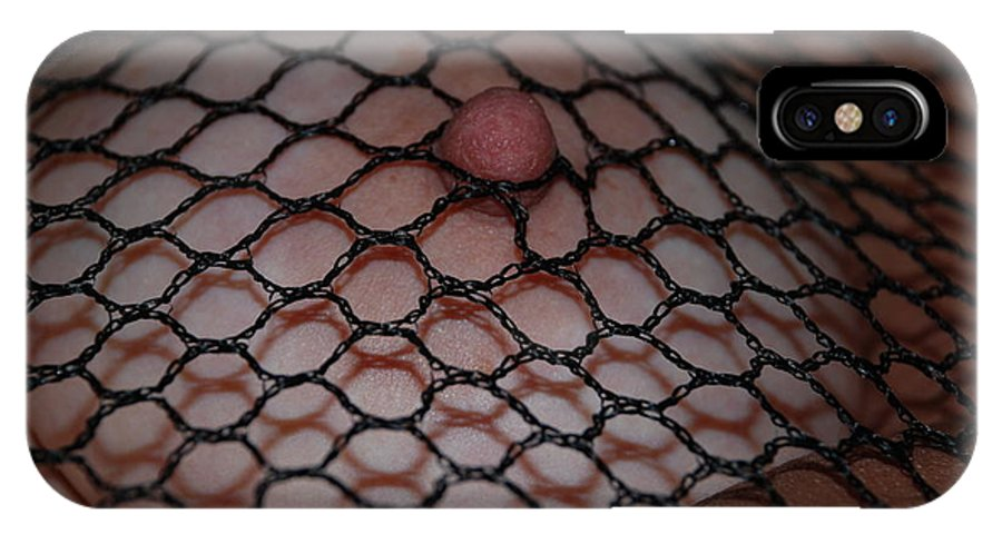 Sexy IPhone X Case featuring the photograph Black Fishnet by Rob Hans