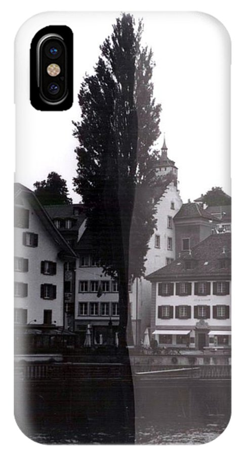 Black And White IPhone X Case featuring the photograph Black Lucerne by Christian Eberli