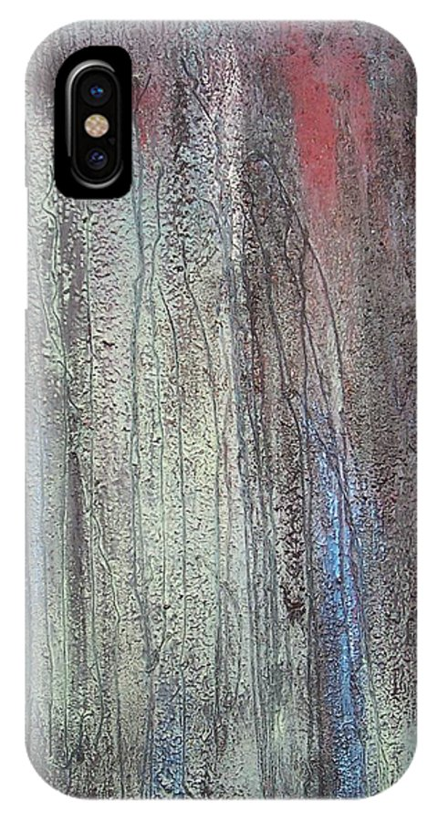 Paintings IPhone X Case featuring the painting Black No 2 Sold by Elizabeth Klecker