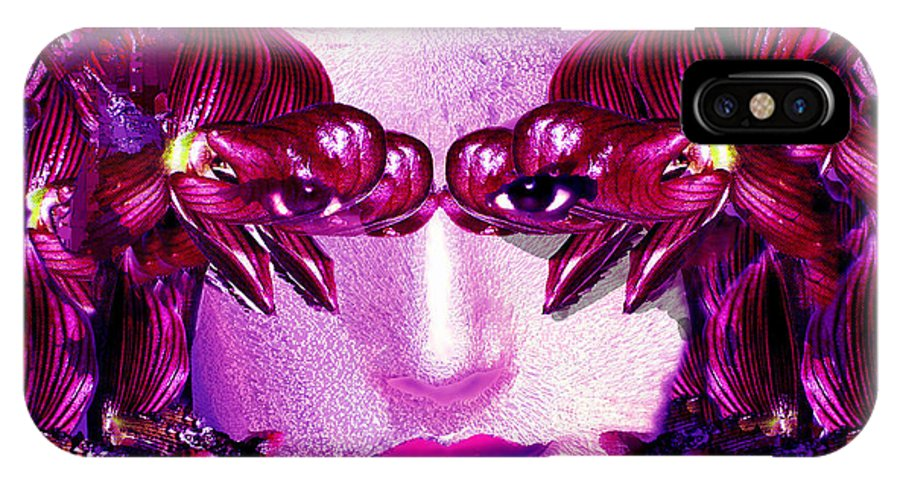 Oriental IPhone Case featuring the digital art Black Orchid Eyes by Seth Weaver