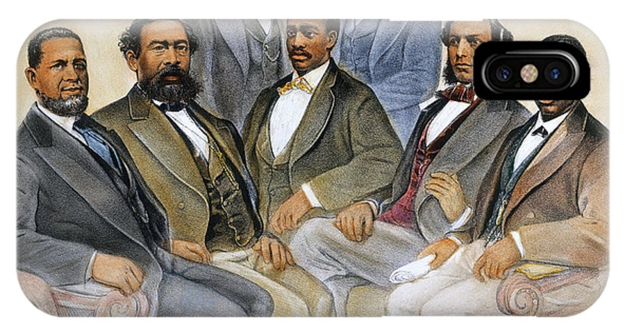 -acts & Administrations- IPhone X Case featuring the photograph Black Senators, 1872 by Granger