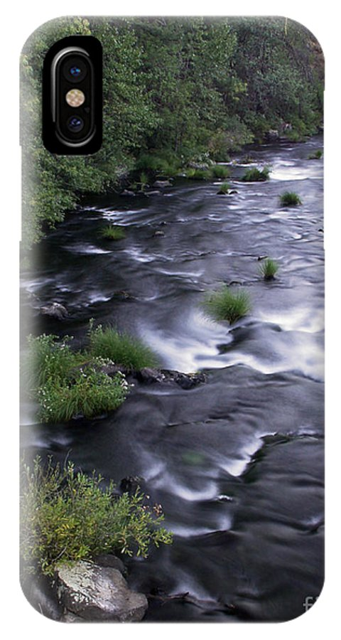 River IPhone X Case featuring the photograph Black Waters by Peter Piatt