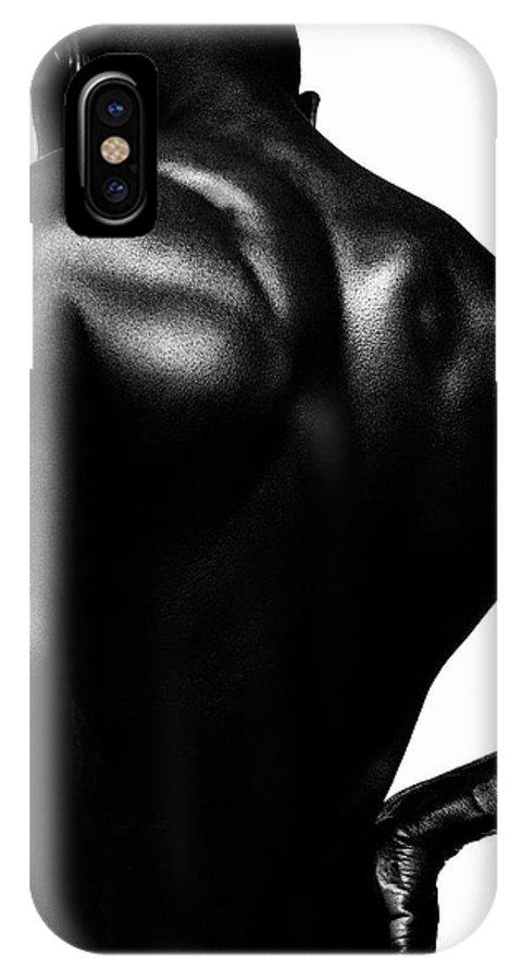 B/w IPhone X Case featuring the photograph Blackback by Sergio Bondioni