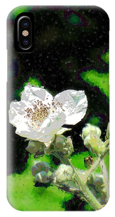 Blackberry IPhone X Case featuring the digital art Blackberry Of My Eye by Tim Allen
