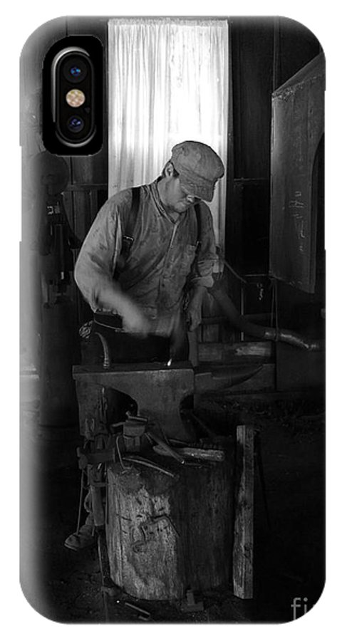 Blacksmith IPhone X Case featuring the photograph Blacksmith by Mark Grayden