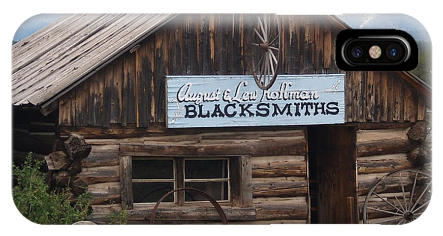 Rustic IPhone X Case featuring the photograph Blacksmiths by Wilma Holland