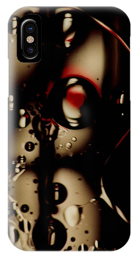 Abstract IPhone X Case featuring the photograph Blade Runner by David Rivas