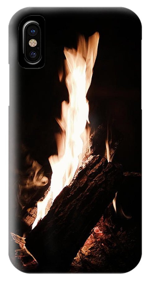 Fire IPhone X Case featuring the photograph Blaze by Eloviano Maya