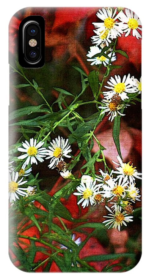 Asters IPhone X Case featuring the painting Blazing In Scarlet Battalions by RC DeWinter