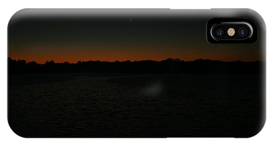 Sunset IPhone X Case featuring the photograph Blazing by Jamie Lynn