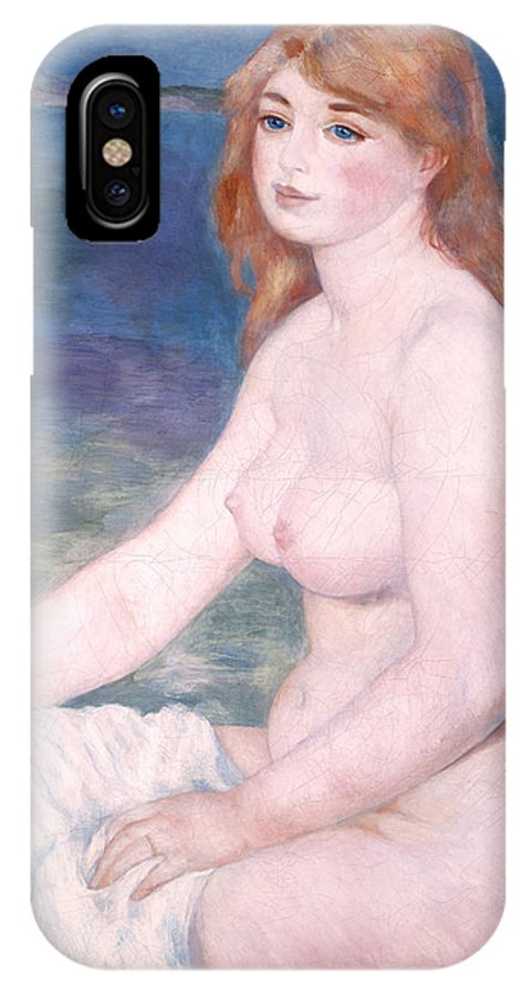Bather IPhone X Case featuring the painting Blonde Bather II by Renoir