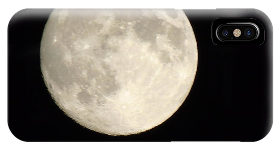 Moon IPhone X Case featuring the photograph Blood Moon by Yohana Negusse