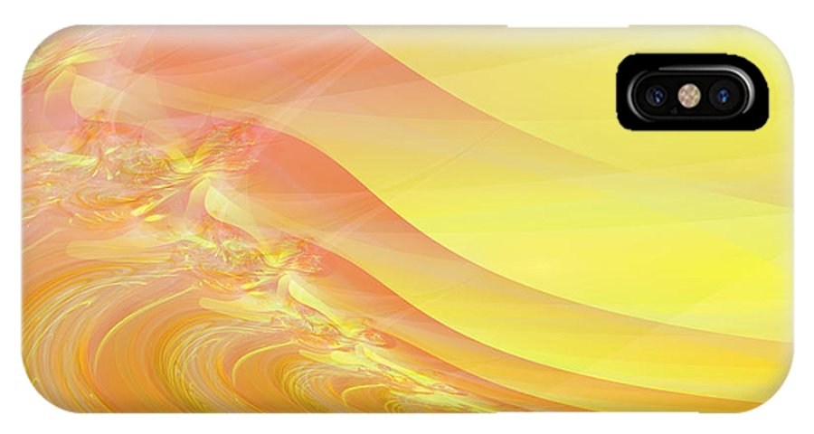Dunes IPhone X Case featuring the digital art Bloody Dunes by Frederic Durville