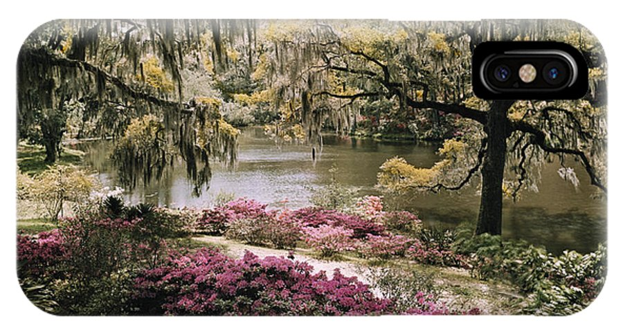 Day IPhone X / XS Case featuring the photograph Blooming Shrubs And Trees by B. Anthony Stewart