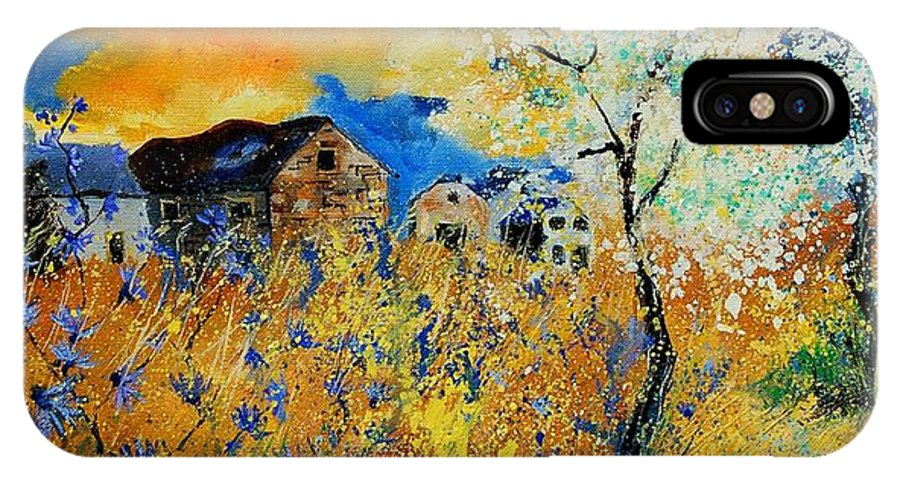 Poppies IPhone X Case featuring the painting Blooming Trees by Pol Ledent