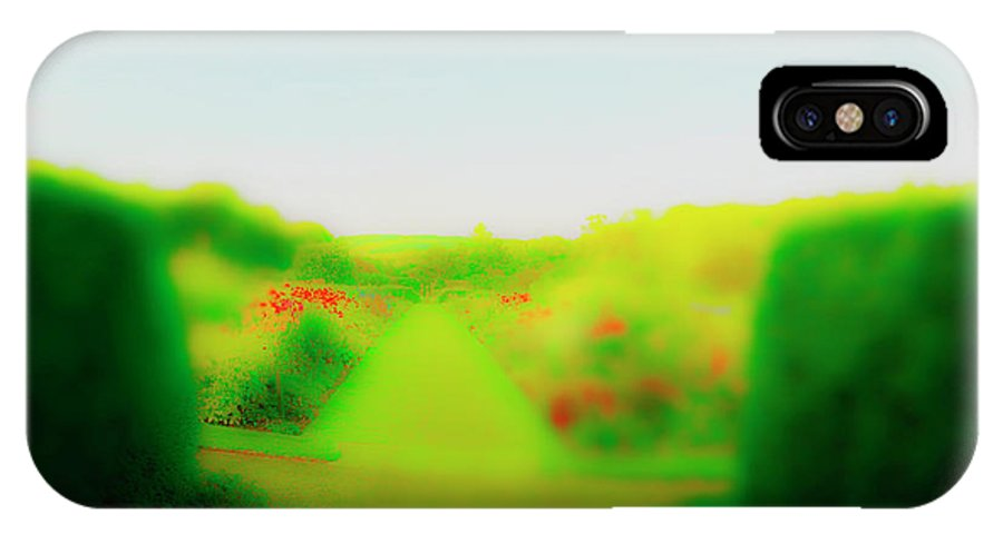 Railroad IPhone X Case featuring the photograph Blooms In Sun by Jan W Faul