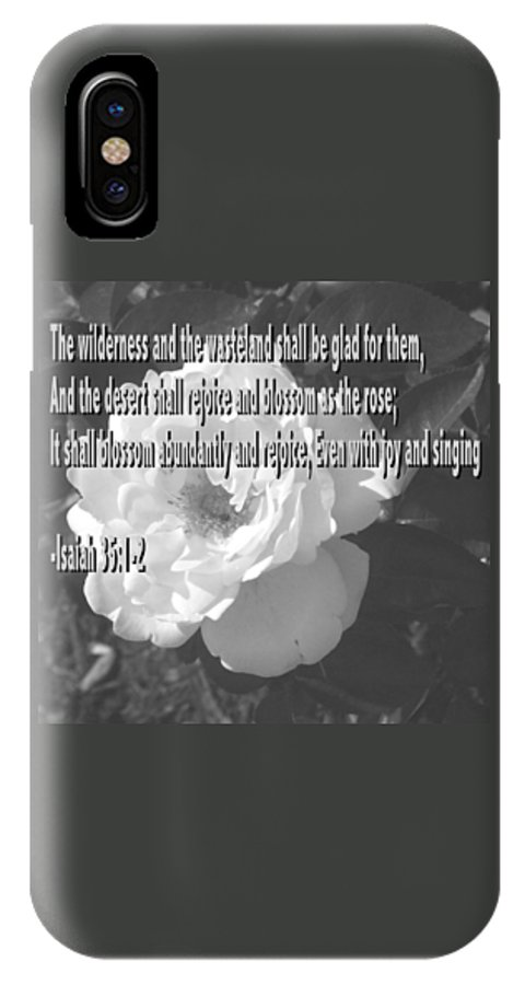 Christian IPhone X Case featuring the photograph Blossom As The Rose by Pharris Art