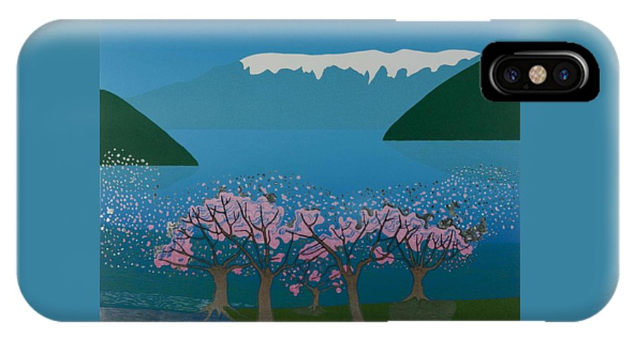 Landscape IPhone X Case featuring the mixed media Blossom in the Hardanger fjord by Jarle Rosseland
