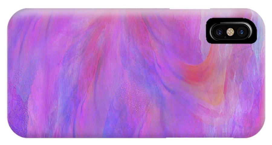Digital Art IPhone X Case featuring the digital art Blossom by Linda Murphy
