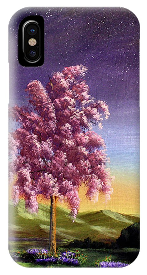 Dawn Blair IPhone X Case featuring the painting Blossoming by Dawn Blair
