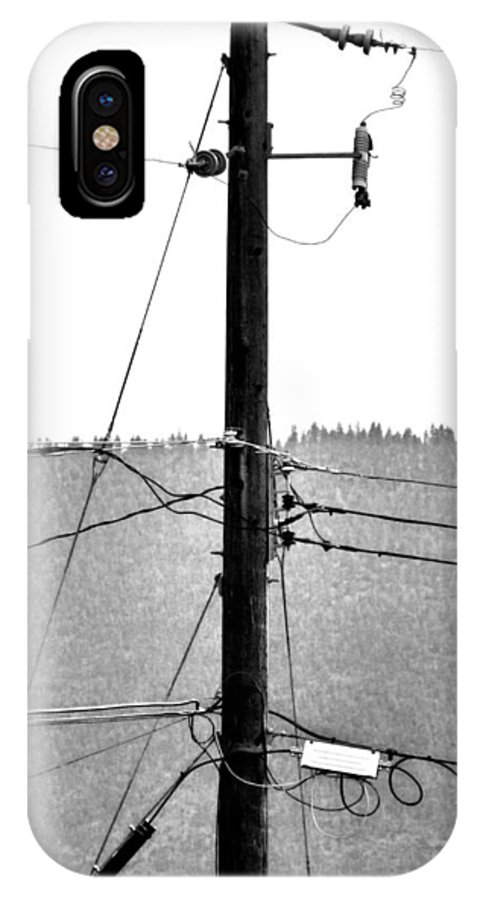 Blot IPhone X Case featuring the photograph Blot On The Landscape by Will Borden