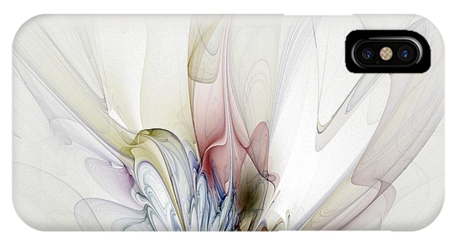 Digital Art IPhone X Case featuring the digital art Blow Away by Amanda Moore