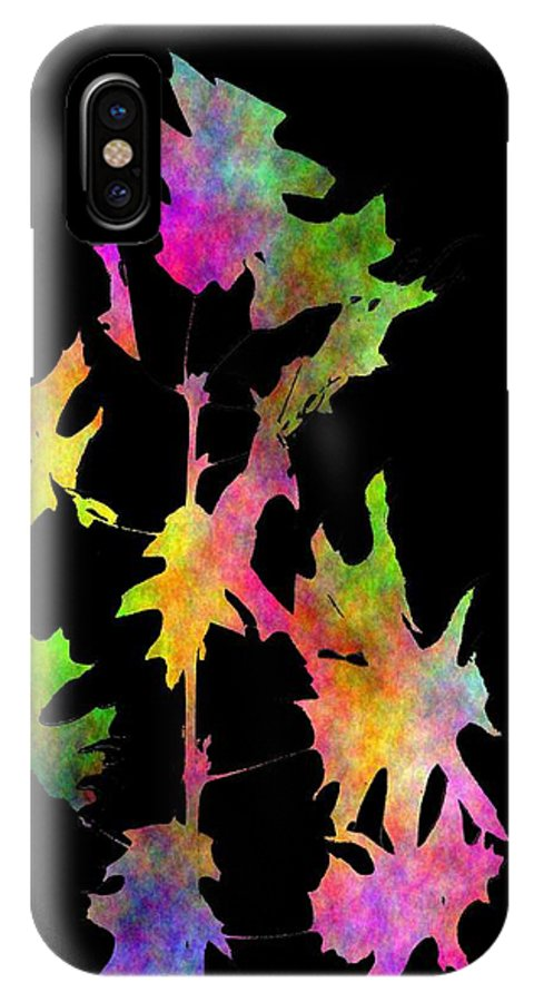 Fall IPhone X Case featuring the digital art Blowin In The Wind 4 by Tim Allen