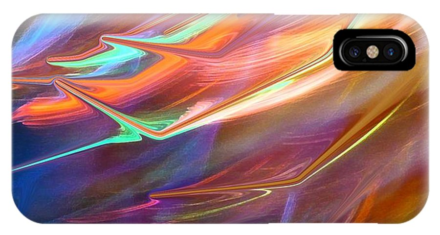 Abstract IPhone Case featuring the photograph Blown Away by Florene Welebny