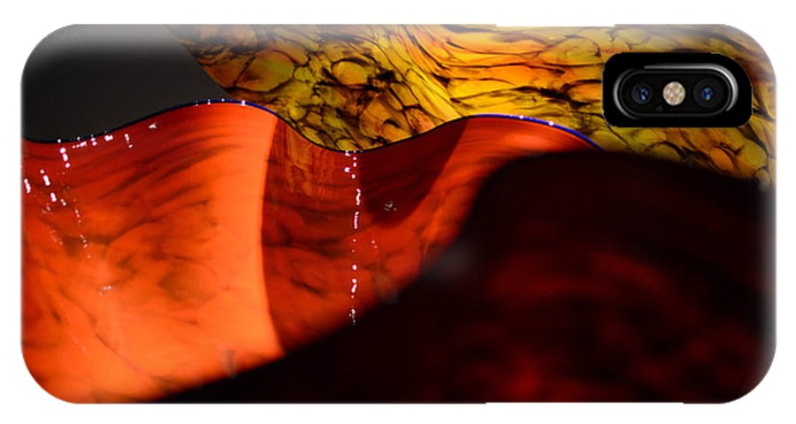 Glass IPhone X Case featuring the photograph Blown Glass 3 by Trina Huston